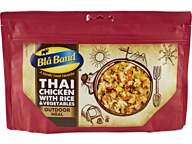 Bla Band Outdoor Meal Thai Chicken with Rice and Vegetables